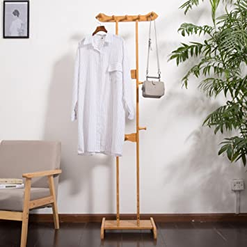 LJHA Perchero y Sombrero Rack Hogar Bamboo Simple Space ...