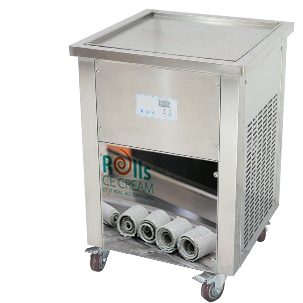 Fry Roll Ice Cream Machine (single square pan), Meelio Flat pan fry ice cream machine