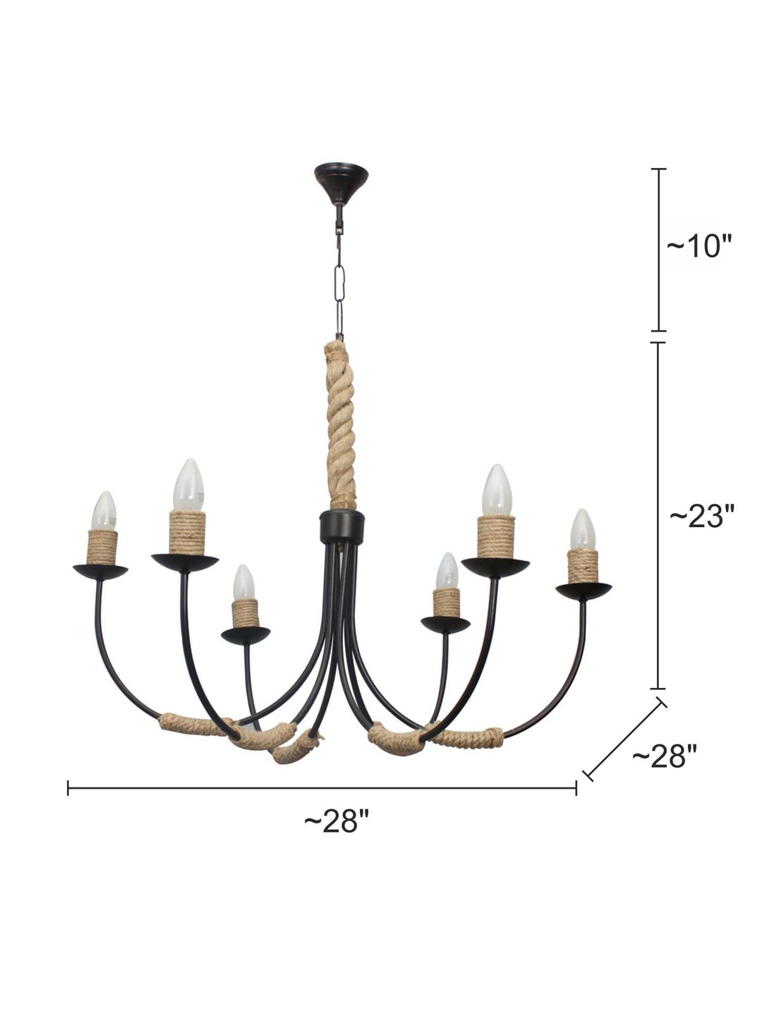 huge selection of ae7c2 b2421 Buy Fos Lighting Beach House 6 Light Rope Chandelier Online ...