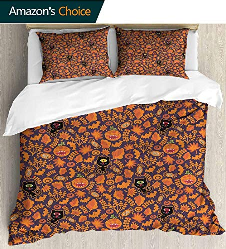 Vintage Halloween Modern Pattern Printed Duvet Cover,Halloween Themed