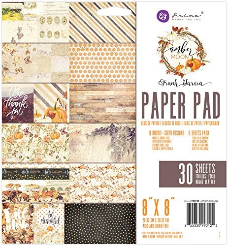 Prima Marketing Amber Moon-8X8 Paper Pad