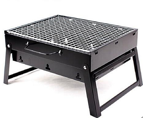 Cinny barbacoa estufa espesado Outdoor Portable Folding Hogar barbacoa del carbon de leña Estufa parrilla horno