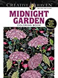 img - for Creative Haven Midnight Garden Coloring Book: Heart & Flower Designs on a Dramatic Black Background (Adult Coloring) book / textbook / text book