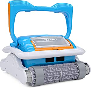 Kenwell Automatic Robotic Pool Cleaner with Large Filter Basket, App Control Function and Wall Climbing Function Pool Cleaner for Medium and Large Pools