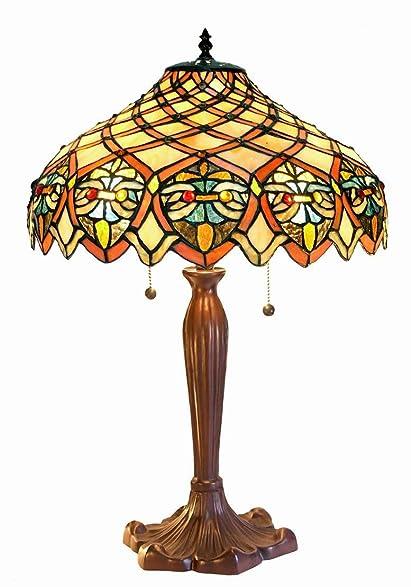 Warehouse Of Tiffanyu0027s 3046 BB1055 Ariel Tiffany Style 24 Inch Table Lamp