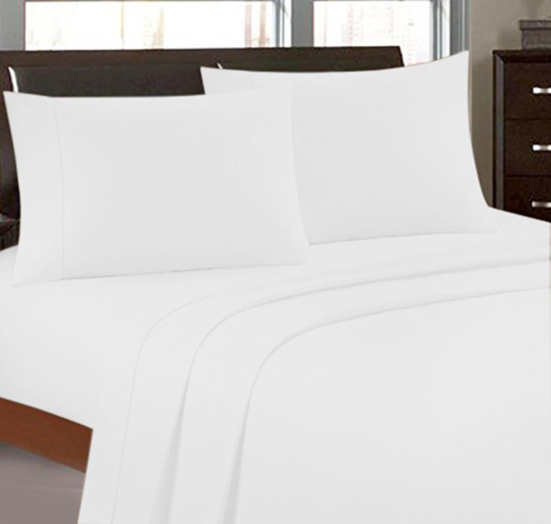 Bonne Nuit 寝具 スレッドカウント300 コットンサテン100% 17インチディープポケットシーツセット キング、ホワイト キング ホワイト White-King B01E3Z3WDY キング|ホワイト ホワイト キング