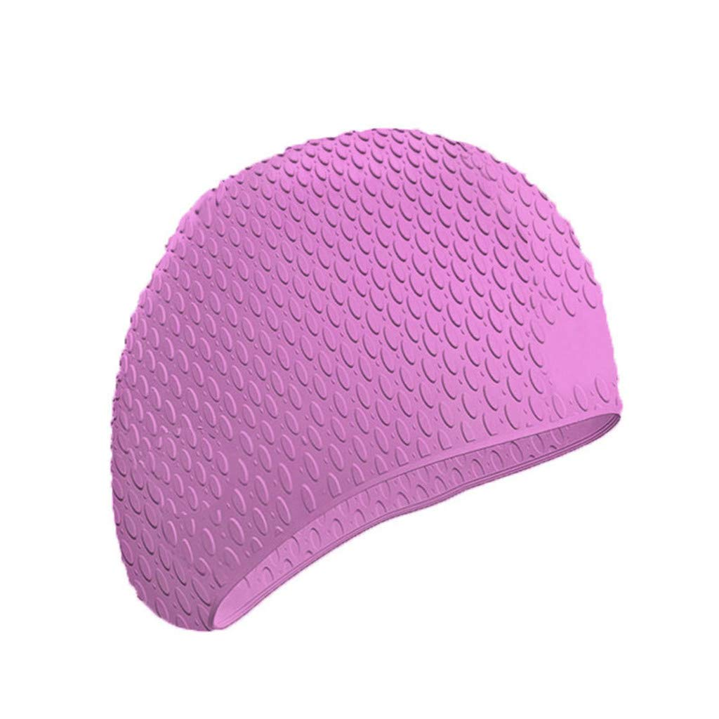 JESPER Adult Swimming Hat Silicone Elastic Flexible Durable Ladies Mens Gents Swim Cap Multicolor