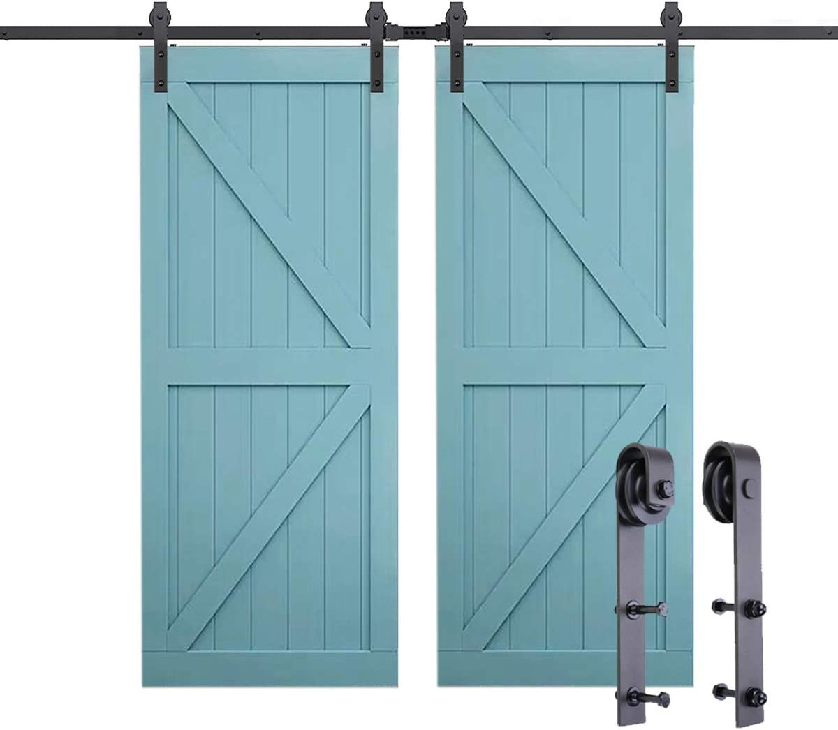 PeggyHD Kit de herramientas para puerta corredera de granero ...