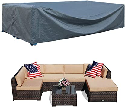 Amazon Com Patio Furniture Covers Sectional Waterproof Outdoor Furniture Set Covers Large Loveseat Covers Waterproof Heavy Duty 126 L X 64 W X 29 H Furniture Decor