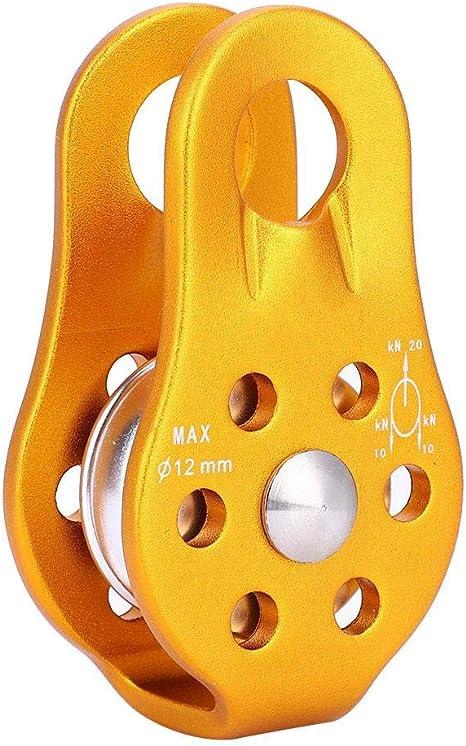 VGBEY Polea de Escalada, Bloque de polea Simple giratoria Placa de polea oscilante para Escalada en Roca, Rescate de Rescate