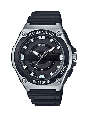 Amazon.com: Casio Mens Quartz Resin Watch, Color:Black (Model: MWC-100H-1AVCF: Watches