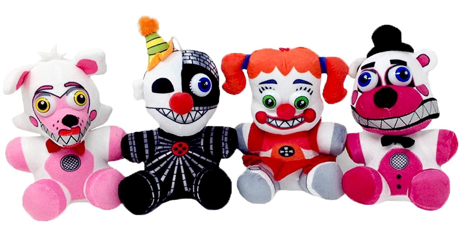 Five Nights at Freddy's Sisters Plush Toy Set of 4 (Ennard, Funtime Foxy, Funtime Freddy, Circus Baby) by Five Nights at Freddy's