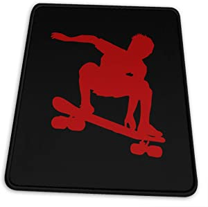 Skateboard Skater Mouse Pad, Non-Slip Rubber Mouse Mat Personalized Gaming Mousepads for Laptop and Computer 10x12x0.12inch