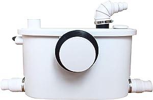 400 Watt Upflush Toilet Macerator Pump with 3 Water Inlets for Macerator Sewerage Pump Kitchen Waste Water Bathroom Toilet Sink Disposal