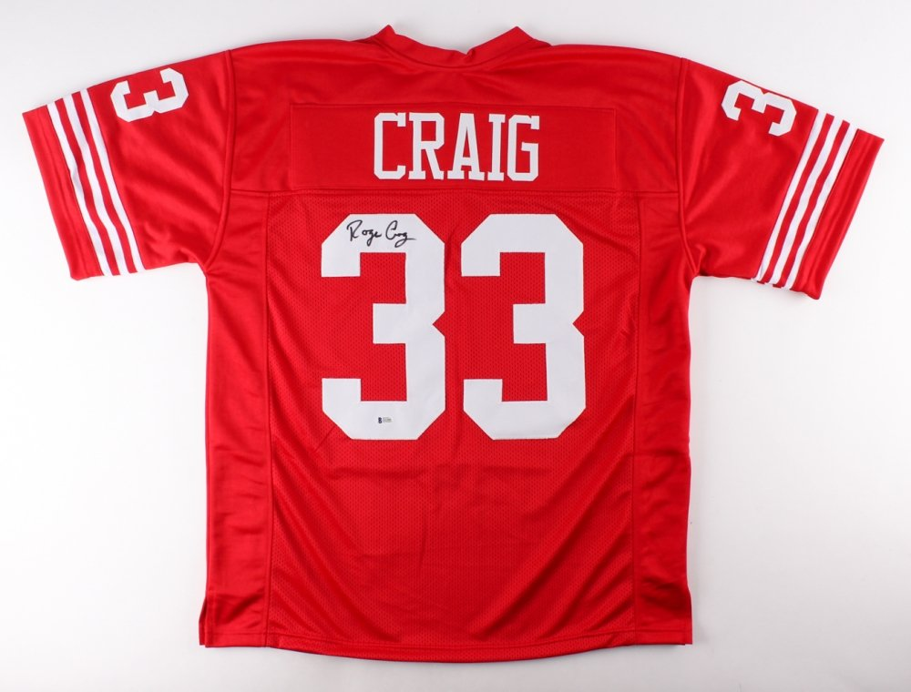1ca5f4c583c Roger Craig #33 Signed San Francisco 49ers Jersey (Beckett COA) Beckett  Witnessed at Amazon's Sports Collectibles Store
