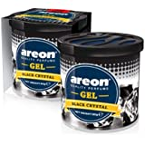 Areon Black Crystal Gel Air Freshener for Car(80g )