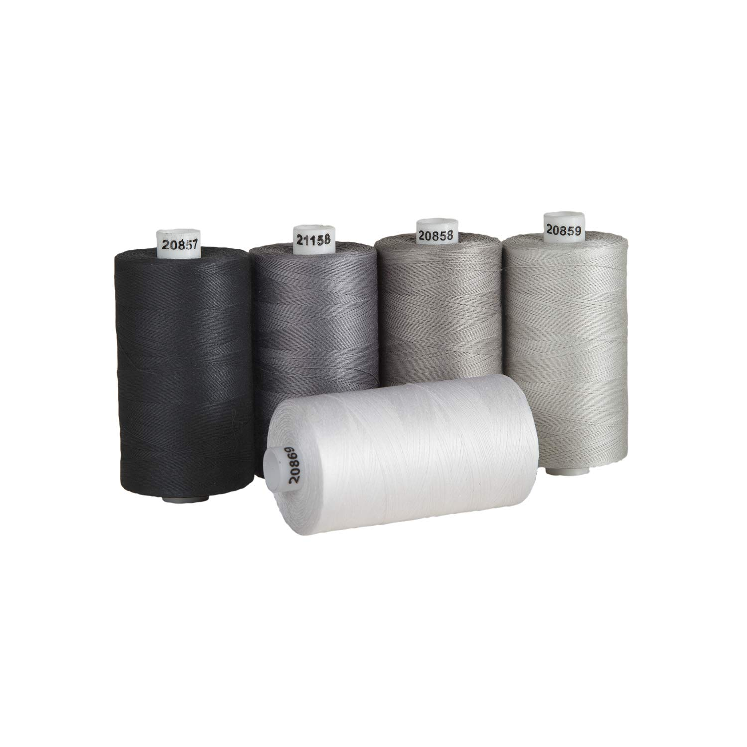 Connecting Threads 100% Cotton Thread Sets - 1200 Yard Spools (Salt & Pepper) by Connecting Threads