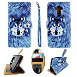 Wallet Case for LG G Stylo LS770 Stylus H631 Designer Case Wallet Cell Phone Wallet Case Flip Pu Leather kickstand ID Card Slots Folio Cover Phone Pouch Case Husky Wolf -  wirlesspulse
