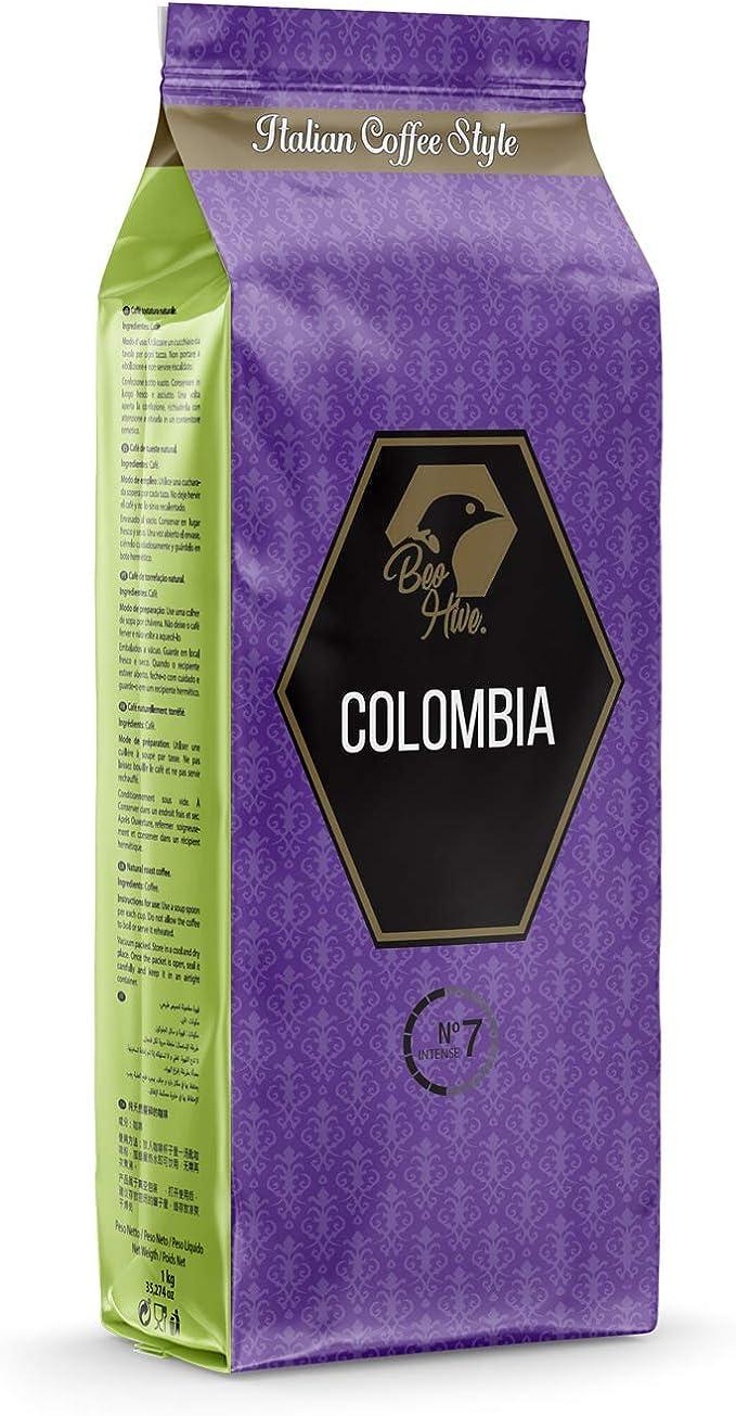 Beo Hive Cafe Colombia Gran Crema 100 Arabica Tueste Italiano Grano 1 Kg Amazon Es Alimentacion Y Bebidas