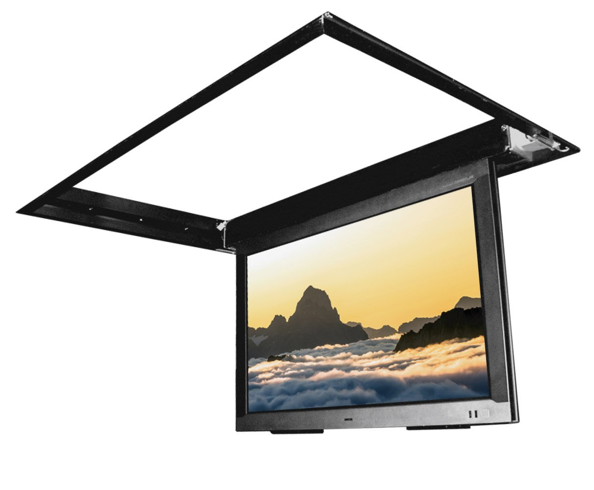 mount motorized ceiling flat for tv panel bracket enlarge in series to modular click tilting peerless