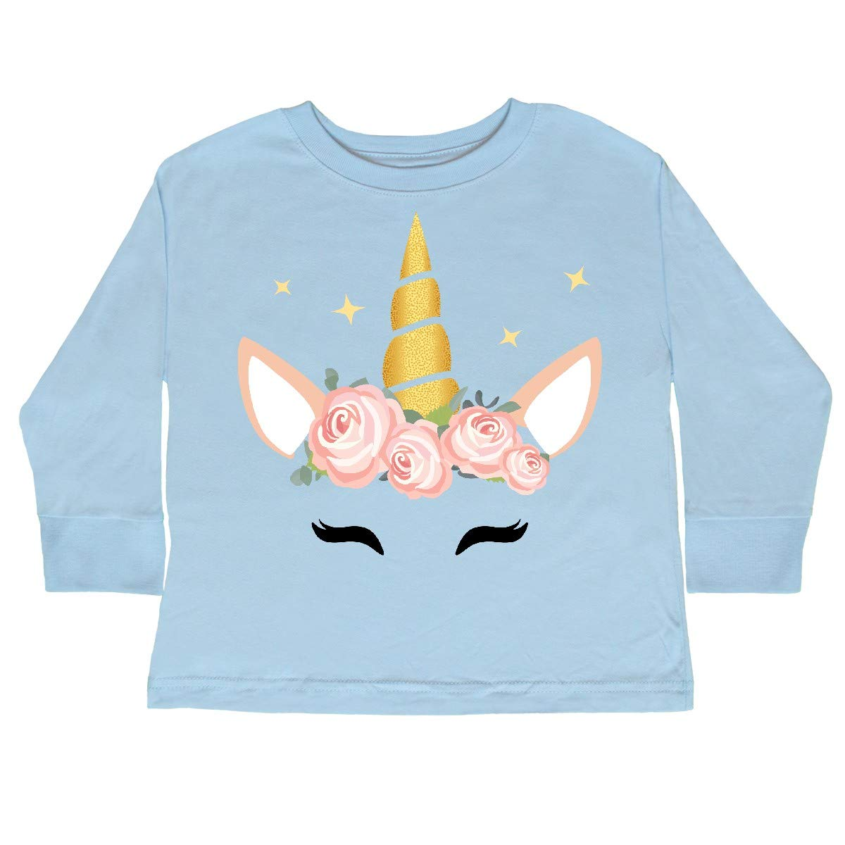Magical Unicorn inktastic Unicorn Face Pink Toddler Long Sleeve T-Shirt