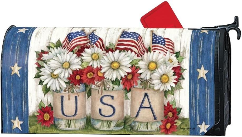 Mailwraps USA Mason Jar LARGE Magnetic Mailbox Cover