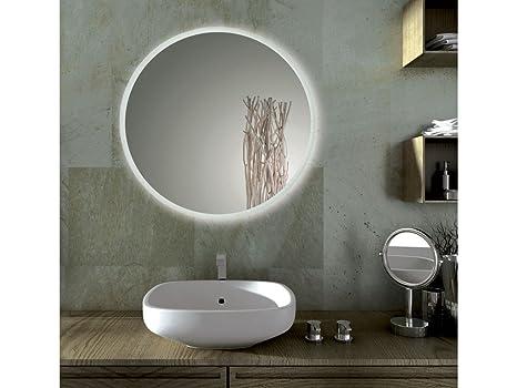 Infabbrica specchio bagno led tondo sole dimensioni cm