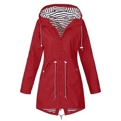 Amazon.com  Clearance Windproof COPPEN Women Christmas Rain Jacket Outdoor  Plus Waterproof Hooded Raincoat (XL 1c0755ea00d7
