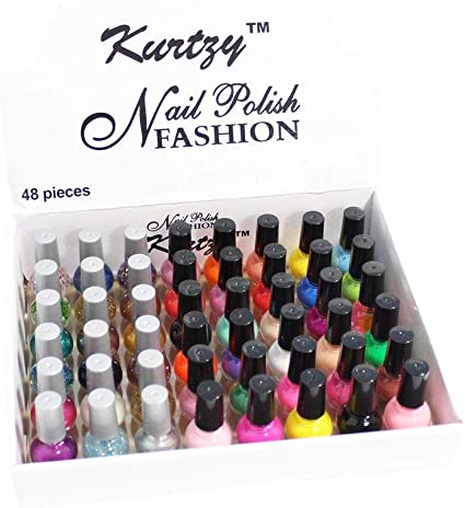 Pack de 48 Esmaltes de Uñas de 8 ml para Manicura/Pedicura Brillo ...