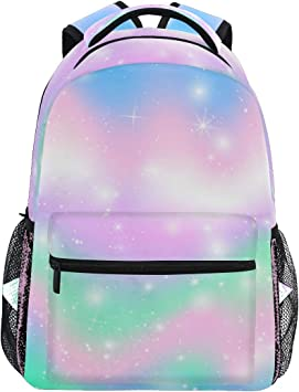 16/'/' Fashion Rainbow School Bag Travel Rucksack Kid/'s Backpack Girls Gift