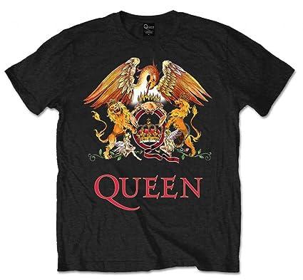 0105478c8 Reina Logo Escudo Oficial Rock tee Camiseta Ropa para Hombre señoras para  Mujer Unisex  Amazon.es  Ropa y accesorios