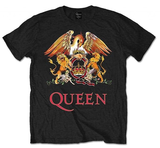 Reina Logo Escudo Oficial Rock tee Camiseta Ropa para Hombre señoras para Mujer Unisex: Amazon.es: Ropa y accesorios