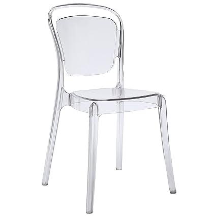 Tremendous Amazon Com Paris Modern Bistro Chair In Clear Indoor Ibusinesslaw Wood Chair Design Ideas Ibusinesslaworg