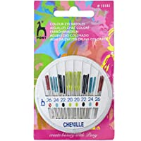 Embroiderymaterial Iron Pony Hand Sewing Needles for Knitting Purpose (Standard Size, Multicolour)