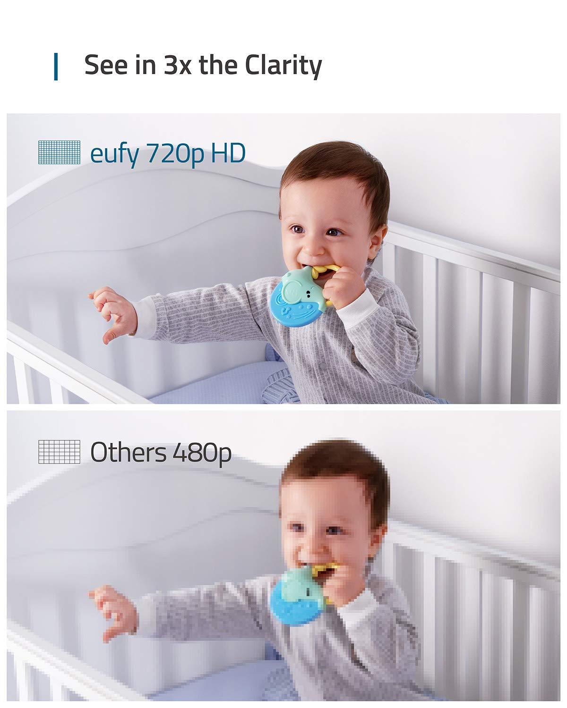 5 Zoll Display mit Temperaturmessung eufy Security Babyphon beidseitige Audiofunktion pr/äzise Nachtsicht Baby Monitor 720p Aufl/ösung starke Akkuleistung mit Schlaflied-Player
