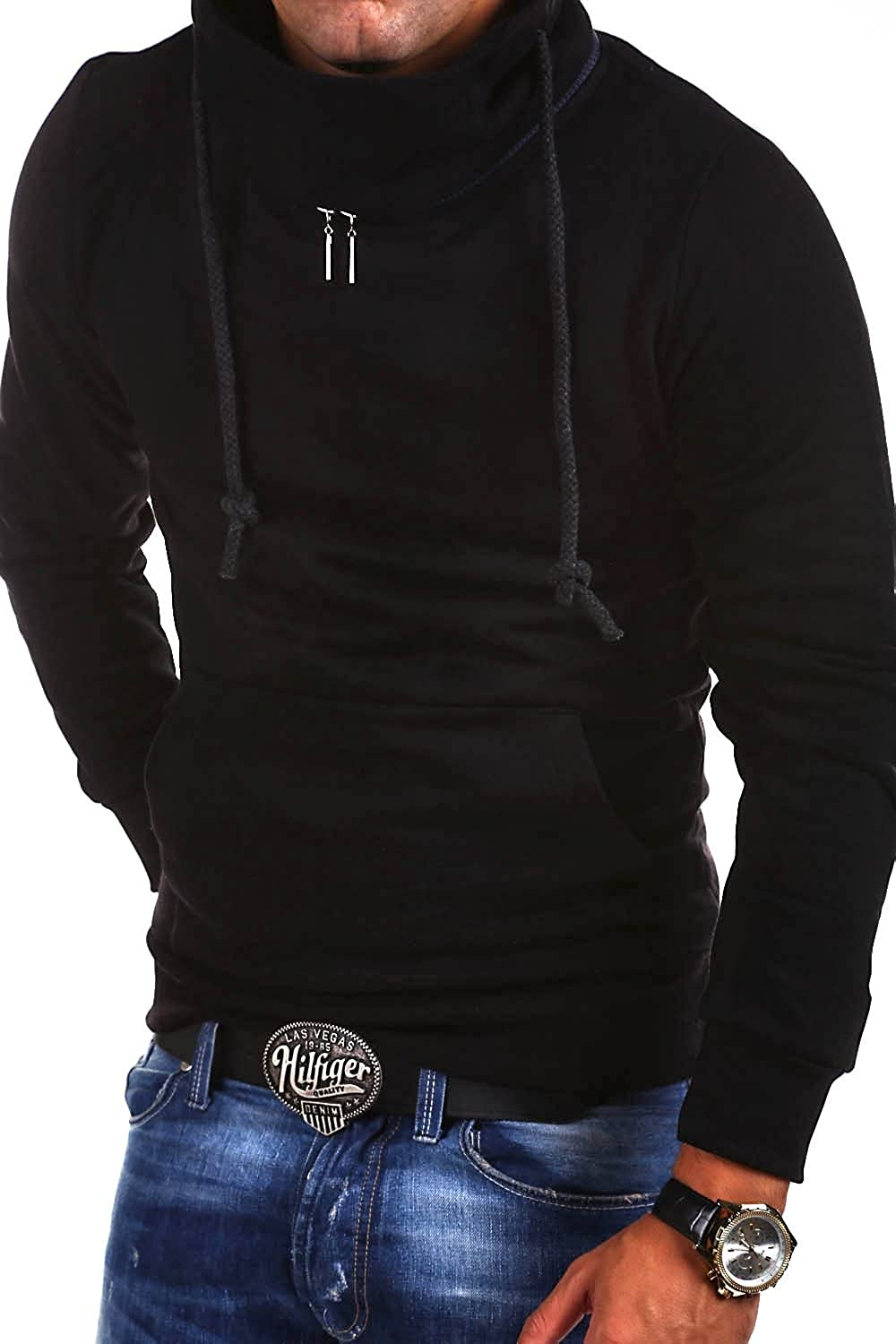 MT Styles Sweatshirt Zipped High Neck Men K-104