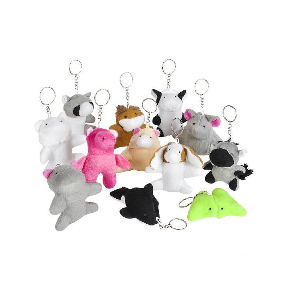 3'' Animal Bean Bag Keychain