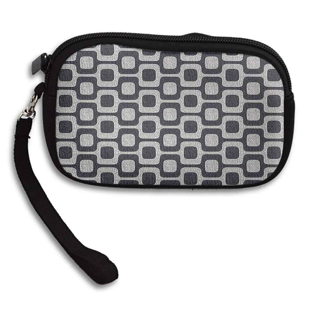 Abstract Purses On Sale Modern White and Black Wave Pavement Pattern Fractal Looking Mosaic W 5.9x L 3.7 Bags for women