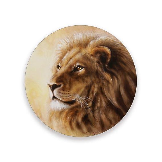 Lupinz - Posavasos con base de corcho, diseño de cabeza de león ...