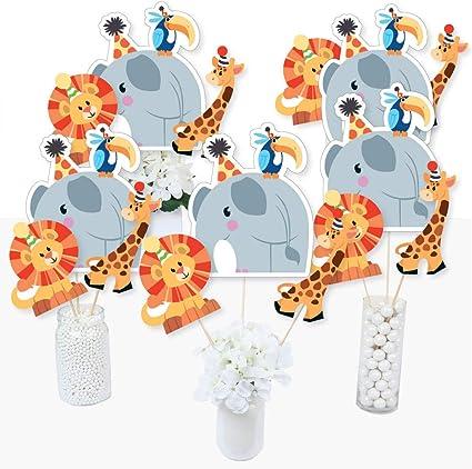 Happi Jungle Baby Shower Honeycomb Centerpiece Giraffe Lion Elephant 1st Birthda