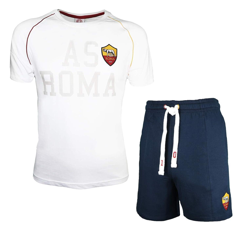 13700 AS Roma Completo t-Shirt Pantaloncino in Cotone Uomo Prodotto Ufficiale Art
