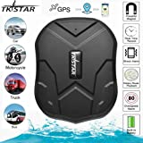 TKSTAR GPS Tracker for Vehicles Car Motorcycle Trucks,TK905 IPX6 Waterproof GPS Loctor Strong Magnetic 5000mah Realtime Track Device Accurate Position Voice Monitor for iOS&Android -  Lifetime Free (Color: Tk905)