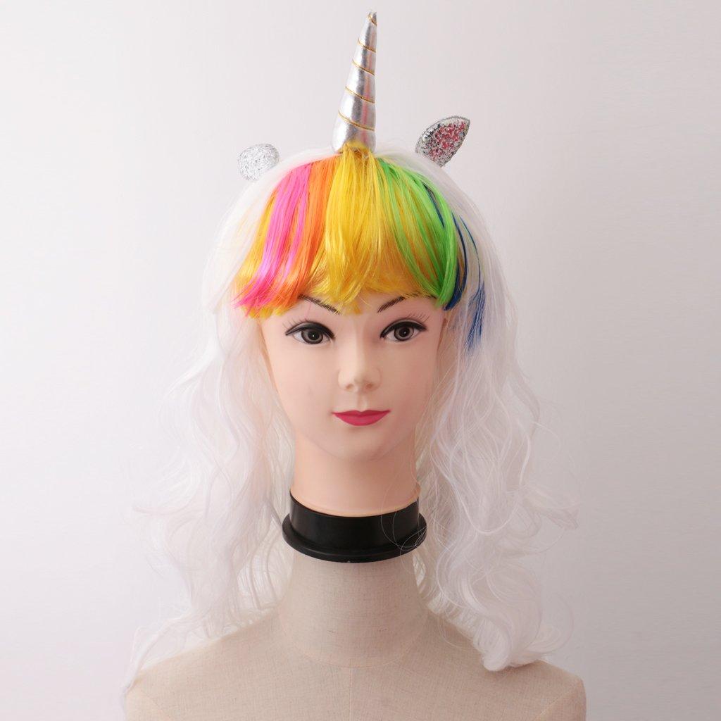 Sharplace Pelucas Rizada Larga Ideal para Traje de Lujo Cosplay Navidad Adorno de Cabello: Amazon.es: Belleza