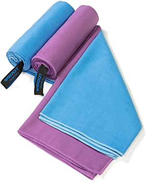 Quick Drying Pocket Size Blue Microfibre Small Travel Towel Soft Camping