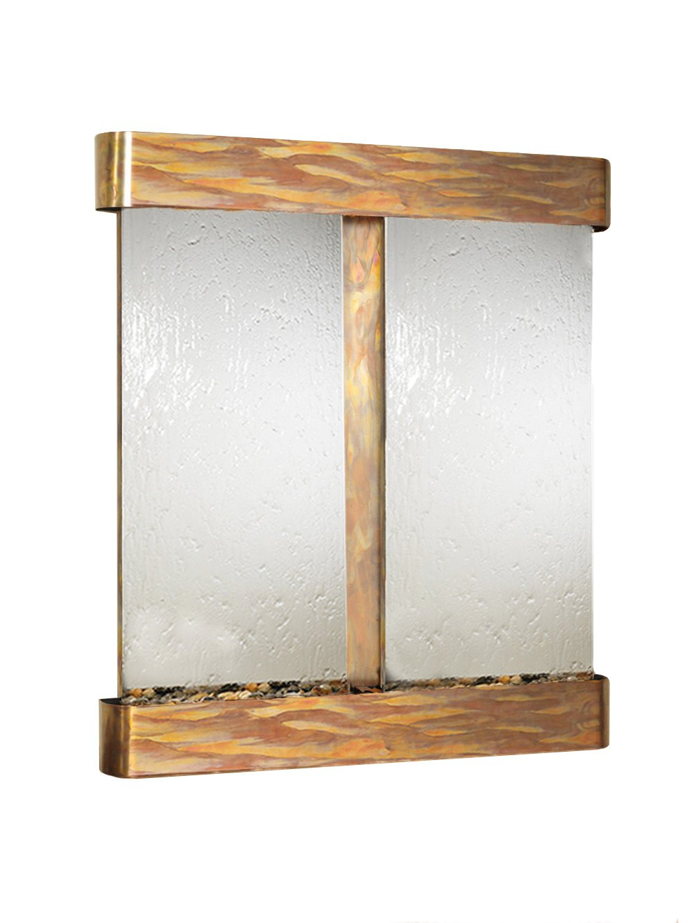 Adagio Cottonwood Falls Wall Fountain Silver Mirror Rustic Copper - CFR1040