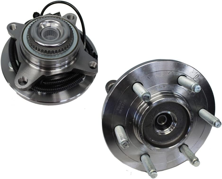 Detroit Axle 515142 - Front Wheel Hub and Bearing Assembly Pair 6 Lug 4x4 - Ford Expedition F-150 Lincoln Navigator 2011 2012 2013 2014