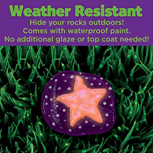 Creativity for Kids Glow In The Dark Rock Painting Kit – Paint 10 Rocks with Water Resistant Glow Paint – Crafts for…