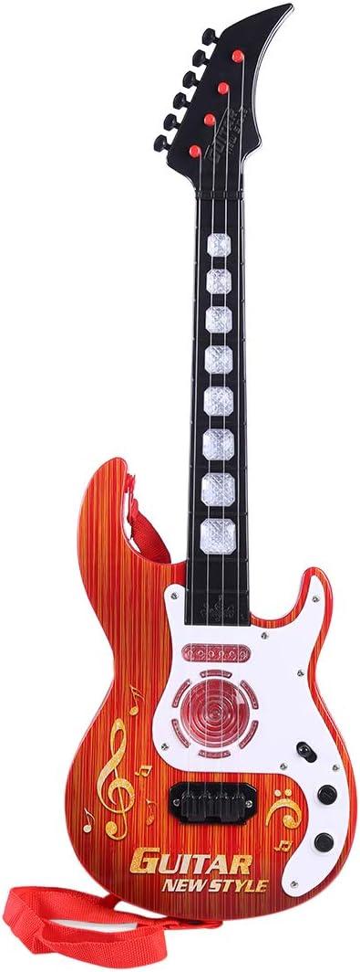 Spieland Kinder Gitarre 4 Saiten Gitarre Spielzeug Musikinstrument Musik Kindergitarre Musikinstrumente P/ädagogisches Spielzeug f/ür Kinder ab 3 Jahre