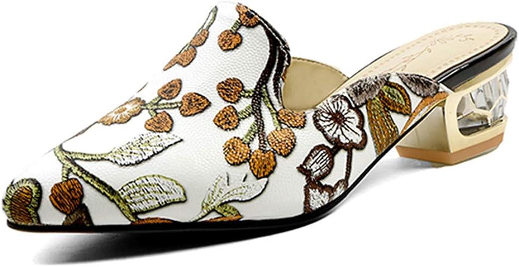 Jiang Xiaopi Womens Pleather Mules Shoes