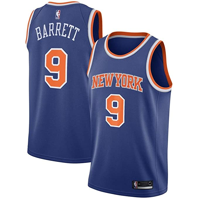 separation shoes edb47 dcdac Amazon.com: Men's New York Knicks #9 R.J. Barrett Royal 2019 ...